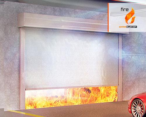 Bramy kurtynowe rolowane przeciwpożarowe